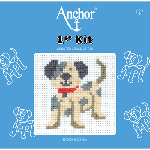 Cross Stitch Kit for Children - Toby the Puppy
