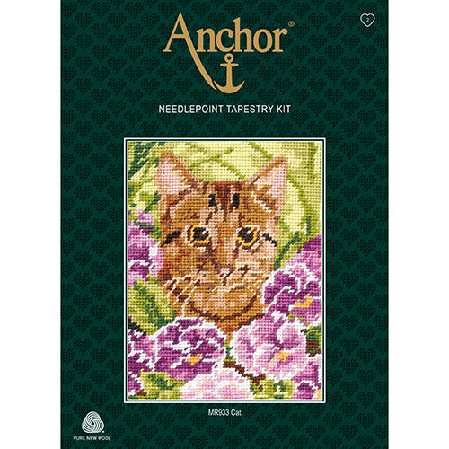 Anchor Beginners Tapestry Kit - Cat in the Garden