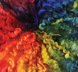 English Leicester Fibre - Rainbow dyed