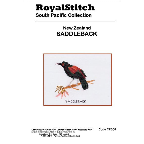 Cross-stitch chart - Royal Stitch New Zealand Saddleback