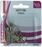 Safety Pins - Nickel or Gold - Various Sizes