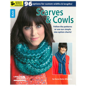 Knit Scarves & Cowls: 96 Options for Custom Widths & Lengths