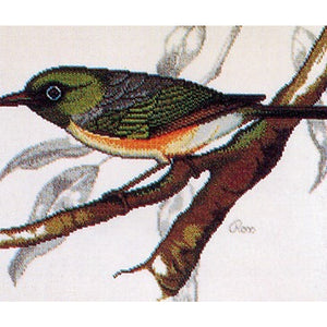 Cross-stitch chart - Ross Originals New Zealand Silvereye