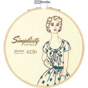 Dimensions Learn A Craft Embroidery Kit for Adults - Simplicity Vintage