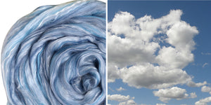Silk Merino Scarf Felting Kit - Skyscape