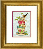 Dimensions Gold Collection Petites Counted Cross Stitch Kit - Stacked Tea Cups