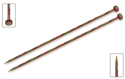 Knitpro - Symfonie Straight Knitting Needles 25cm birch