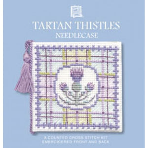 Cross-stitch Needlecase kit - Tartan Thistles