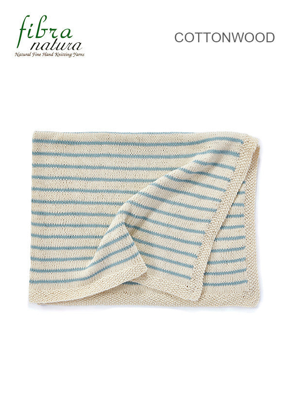 Fibra Natura TX069 - Baby Blanket in 8-ply / DK Cotton or Cotton-Blend