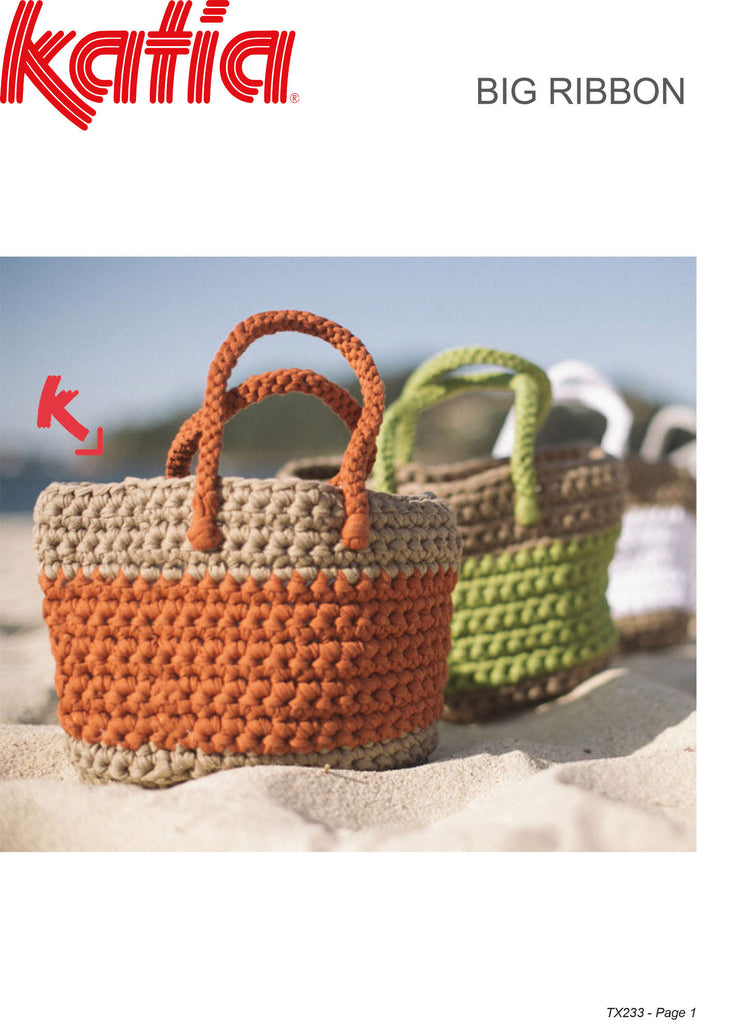 Katia TX233 - Crochet Beach Bag in Katia Big Ribbon Chunky