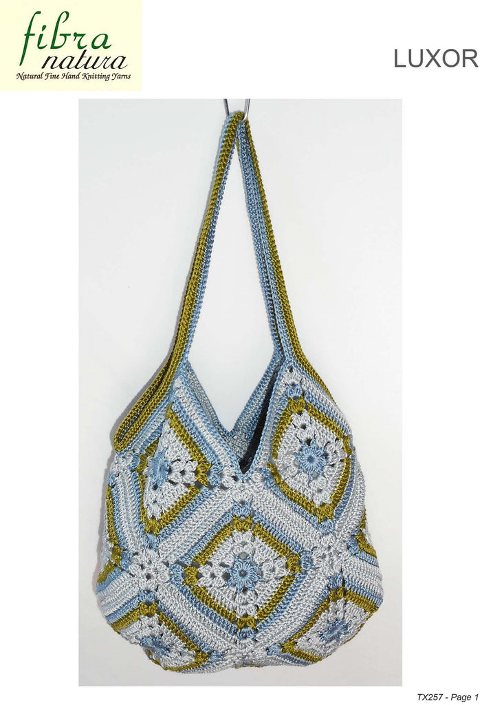 Fibra Natura TX257 - Crochet Bag in 8-ply / DK Cotton or Cotton-Blend