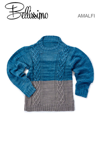 Bellissimo Amalfi TX531 - Children's Cabled Jumper in 2 colours - in 8-ply / DK for ages 2-10 years