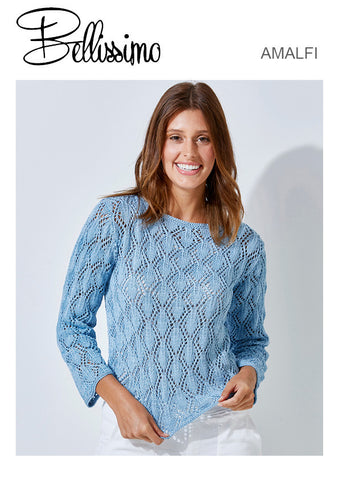 Bellissimo Amalfi TX532 - Ladies Lace Top with Diamond pattern in 8-ply / DK