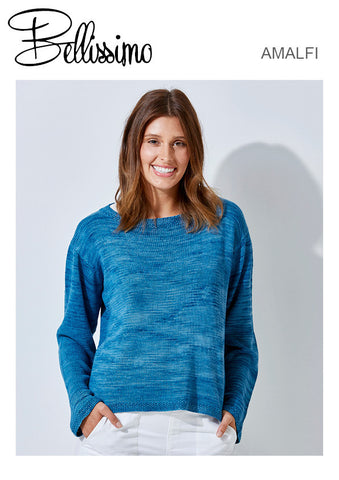 Bellissimo Amalfi TX535 - Ladies Oversized Jumper in 8-ply / DK