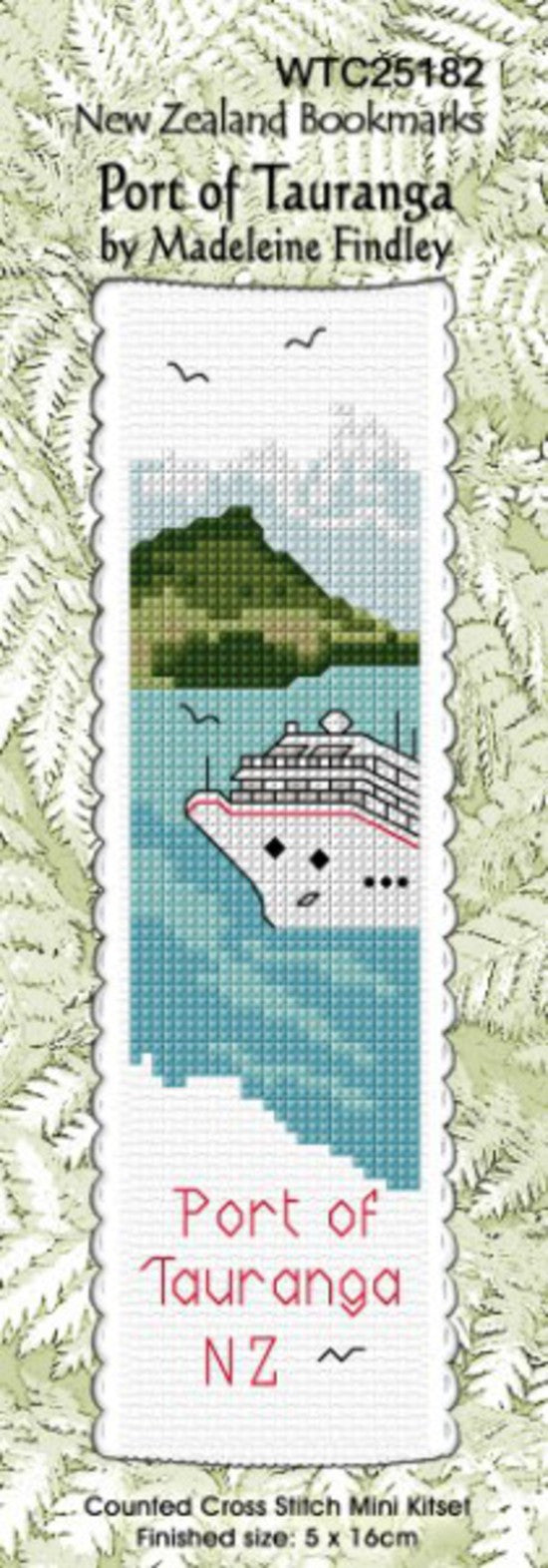 Cross-stitch bookmark - Port of Tauranga