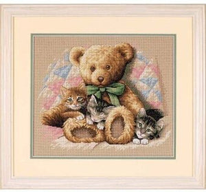 Dimensions Counted Cross Stitch Kit - Teddy and Kittens