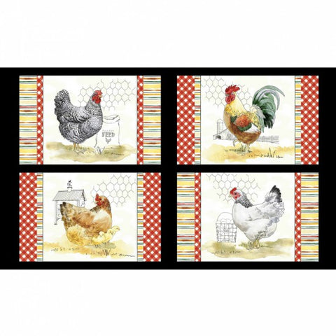 The Hen House - Panel for Placemats (60 cm x 108 cm)