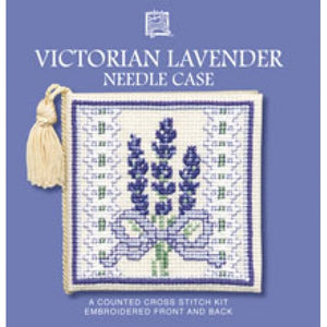 Cross-stitch Needlecase kit - Victorian Lavender