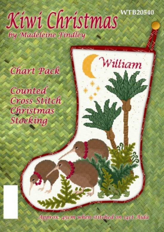 Cross-stitch chart - Kiwi Christmas