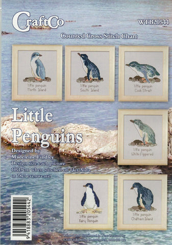 Cross-Stitch Pattern - Little Penguins, Set of Six Charts