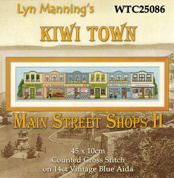 Cross-stitch kit - Kiwi Town - Main Street Shops 2