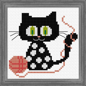 Cross-stitch kit for children - Knit Kitty