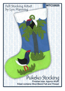 Felt Kit - Pukeko Christmas Stocking