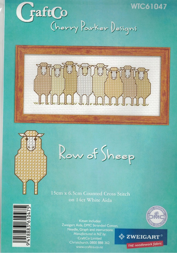 Cross-stitch kit - A Row of Sheep