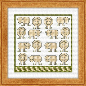 Cross-stitch kit - Wee Sheep