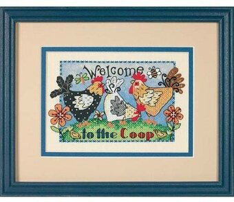 Dimensions Mini Stamped Cross Stitch Kit - Welcome to the Coop
