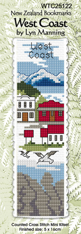 Cross-stitch bookmark - West Coast
