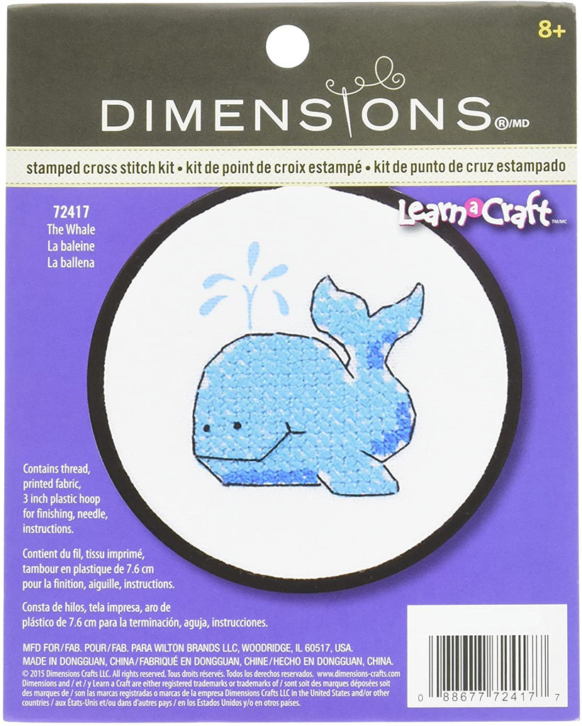 Cross Stitch Kit for Children - Whale
