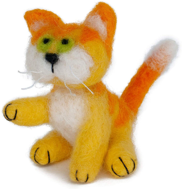 Dimensions Needle Felting Kit - Yellow Kitty