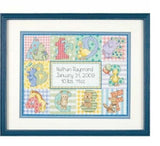 Dimensions Counted Cross Stitch Kit - Zoo Alphabet Birth Record