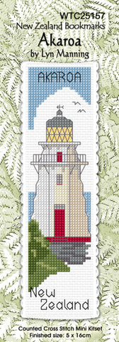 Cross-stitch bookmark - Akaroa