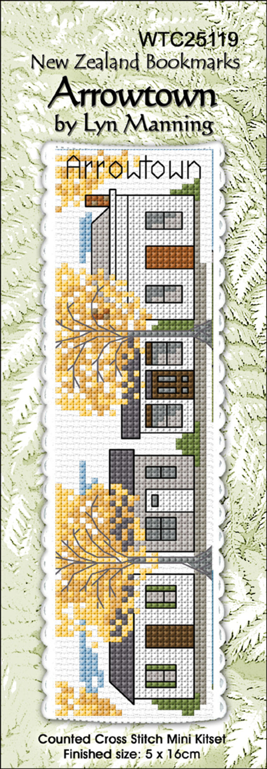 Cross-stitch bookmark - Arrowtown