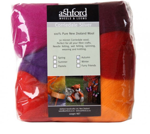 Corriedale Sliver Fibre - Seven Autumn Colours