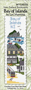 Cross-stitch bookmark - Bay of Islands