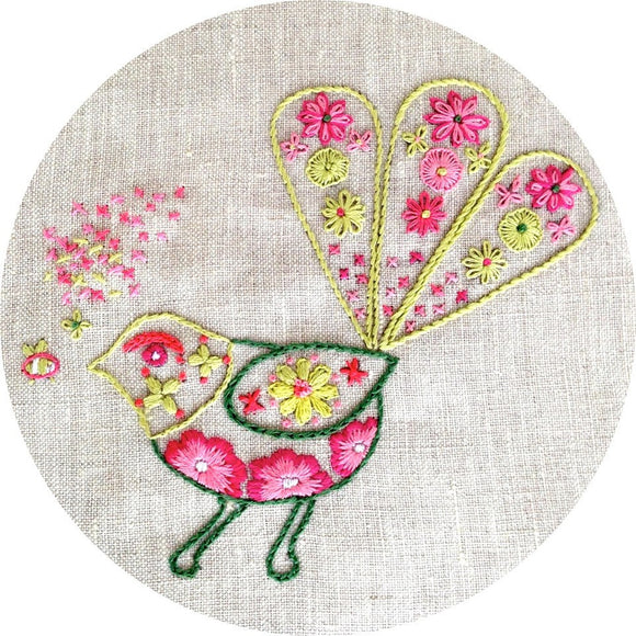 Embroidery Kit - Bee meets Fantail
