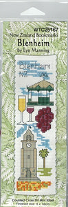Cross-stitch bookmark - Blenheim