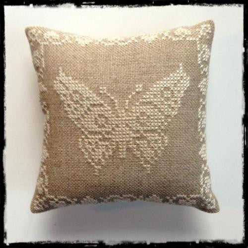 Cross-stitch kit - Butterfly pin cushion
