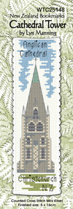 Cross-stitch bookmark - Cathedral Tower