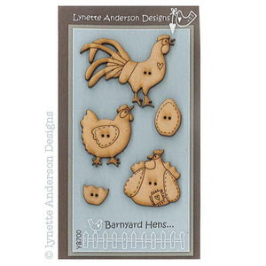 Buttons - Lynette Anderson Barnyard Chooks Button Set