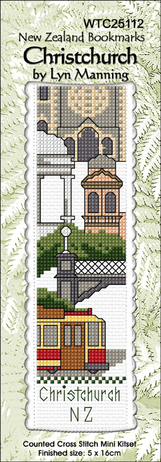 Cross-stitch bookmark - Christchurch