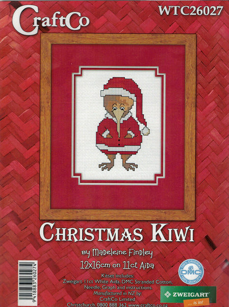 Cross-stitch kit - Christmas Kiwi