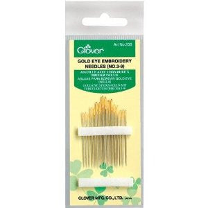 Clover 235 - Gold Eye Embroidery Needles