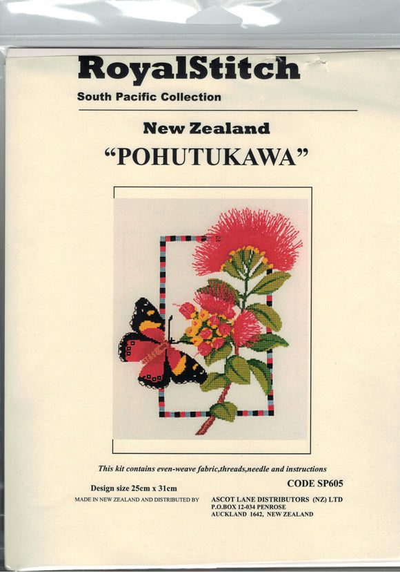 Cross-stitch kit - Royal Stitch Pohutukawa