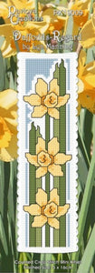 Cross-stitch bookmark - Daffodils - Regard
