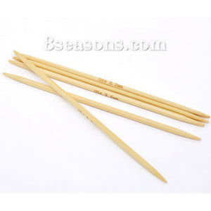 Double Point Knitting Needles - 13 cm Bamboo