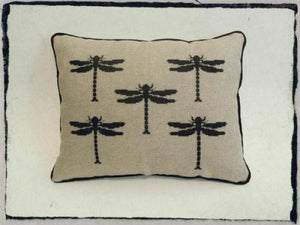 Cross-stitch kit - Dragonfly Cushion front